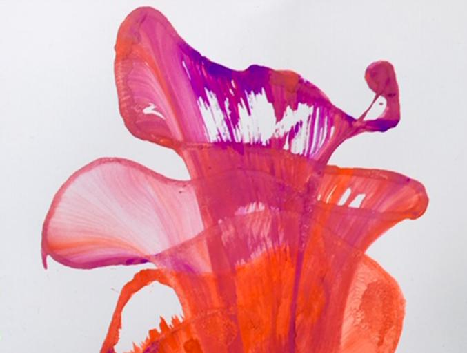 Peinture ateliers de la Chouette Zebrée en institution